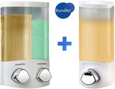 JCPenney Euro Duo & Uno White Liquid Soap & Shampoo Dispensers