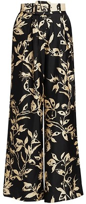 Zimmermann Ladybeetle Wide-Leg Silk Trousers