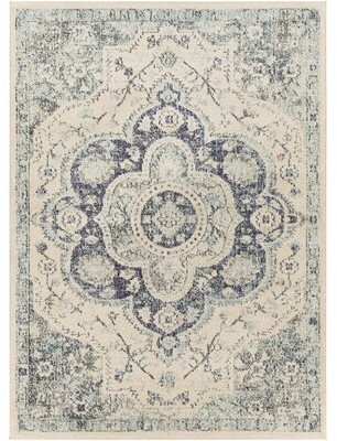 "Surya Morocco Oriental Blue Area Rug Rug Size: Rectangle 7'10"" x 10'3"""