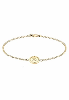 Elli Women's 925 Sterling Silver Om Pendant Bracelet of Length 18cm