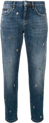 Philipp Plein Lettering Detail Jeans