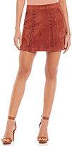 Gianni Bini Samson Faux-Suede Mini Skirt