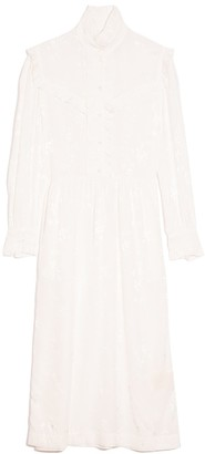 Raquel Allegra Luna Ruffle Dress in White
