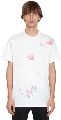 Loewe PRINTED LETTERS COTTON JERSEY T-SHIRT