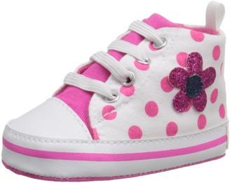Gerber Girls' Hotpink Polka dot Hitop-K Sneaker