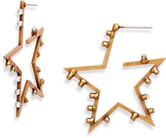 Stella + Ruby Cosmos Studded Hoop Earrings