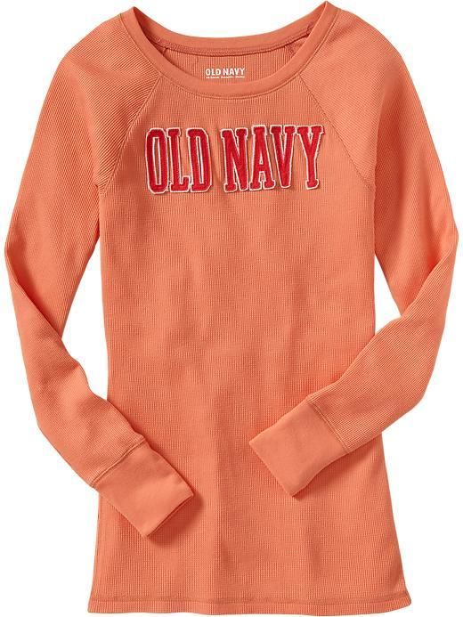 Old Navy Women's Logo-Applique Waffle-Knit Tees