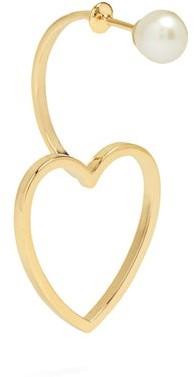 Delfina Delettrez Pearl & 18kt Rose-gold Single Earring - Gold