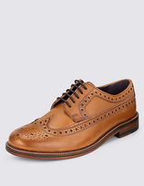 M&s Collection Luxury Leather Heritage Brogue Shoes