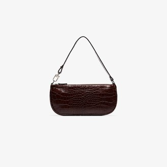 BY FAR crocodile-embossed shoulder bag
