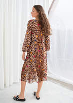Leopard Dot Kaftan Dress