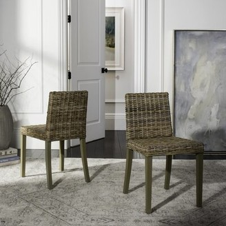 Bay Isle Home Willow Side Chair in Beige