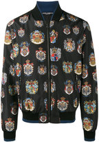 Dolce & Gabbana insignia print bomber jacket - men - Silk/Polyester/Cupro - 46
