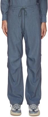 AURALEE Drawstring waist linen twill pants
