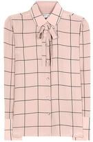 Valentino Checked silk blouse