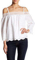 Do & Be Do + Be Cold Shoulder Embroidered Blouse