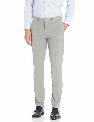 Louis Raphael Men's Skinny Fit Flat Front 4 Way Stretch Sharkskin Dress Pant