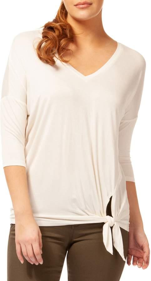 Dex V-Neck Quarter-Sleeve Top