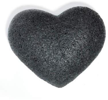 One Love Organics Cleansing Sponge Charcoal Heart