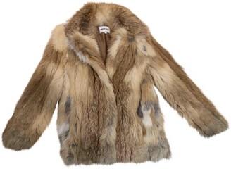 American Retro Beige Fox Coat for Women
