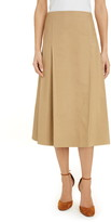 Victoria Beckham Pleated A-Line Midi Skirt