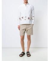 Visvim embroidered stripe shirt