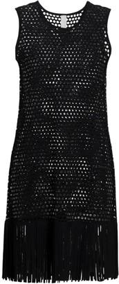 Karla Colletto Swim Gael Mesh Fringe Dress