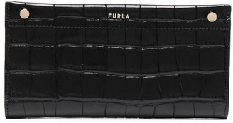 Furla Babylon crocodile-effect long wallet