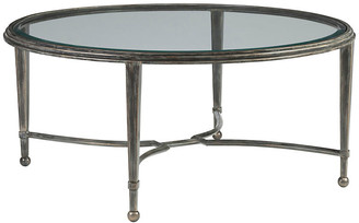 Artistica Sangiovese Round Coffee Table - St. Laurent Iron natural iron