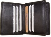 AG Jeans A&G Genuine Leather Bifold 16 Card Case Front Pocket Wallet Slim Thin Mini Center Flap