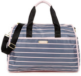 Betsey Johnson Striped Nylon Weekend Bag