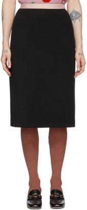 Gucci Black Wool Jersey Skirt