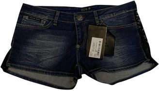 Philipp Plein Blue Cotton - elasthane Shorts for Women