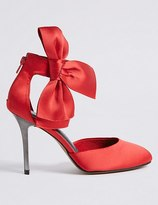 Marks and Spencer Stiletto Bow Satin Two Part Court Shoes