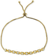 Giani Bernini Cubic Zirconia X/O Adjustable Slider Bracelet in 18k Gold-Plated Sterling Silver, Only at Macy's