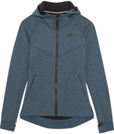Nike Tech Fleece Cotton-blend Jersey Hooded Top - Storm blue