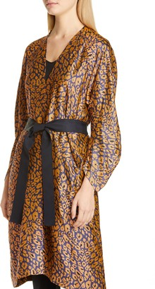 Zero Maria Cornejo Curve Oki Cheetah Jacquard Coat