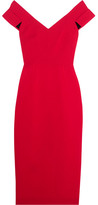 Roland Mouret Grendon Wool-crepe Dress - Crimson