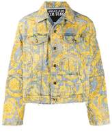 Versace Jeans Couture baroque print denim jacket
