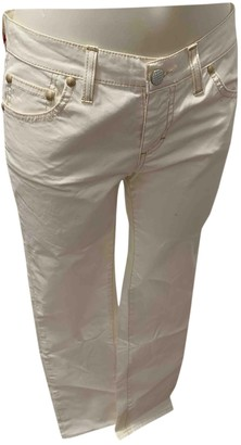 Holiday White Cotton Jeans