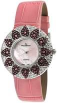Peugeot Women's J1450PK Pink Swarovski Crystal Pink Watch