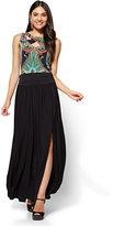 New York & Co. Slit-Front Maxi Skirt - Petite