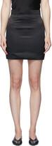 Thumbnail for your product : MATÉRIEL Black Satin Miniskirt