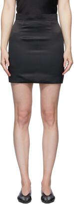 MATÉRIEL Black Satin Miniskirt