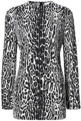 Burberry Panaro Leopard-Print Jersey Shift Dress