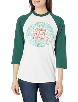 Soffe Women's Funny Novelty Sloga Raglan-Christmas Chaos Coordinator Small
