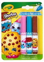 Crayola ; Shopkins PipSqueaks Markers 3ct - Kooky Cookie