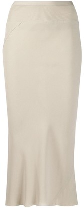 Rick Owens Stretch Fit Draped Skirt