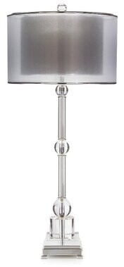 "John-Richard Collection 37"" Silver Buffet Lamp"