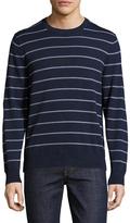 Brooks Brothers Cotton Be Striped Crewneck Sweater